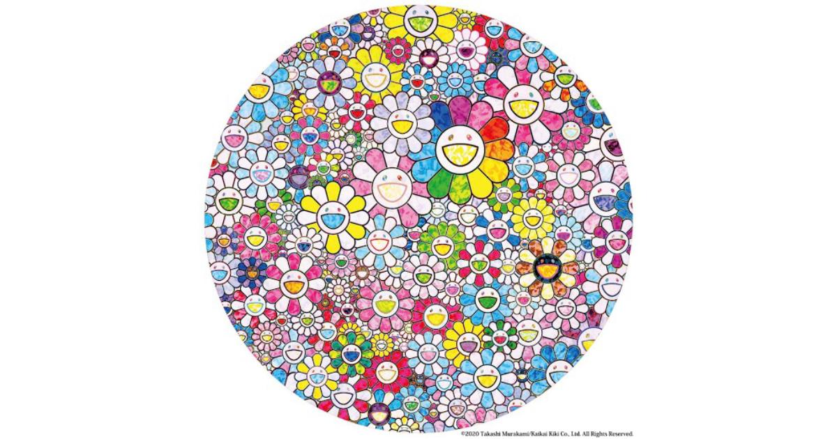 【2月22日発売開始】TONARI NO ZINGARO 村上隆新作ポスター ポスター HAPPY×1兆回:FLOWER