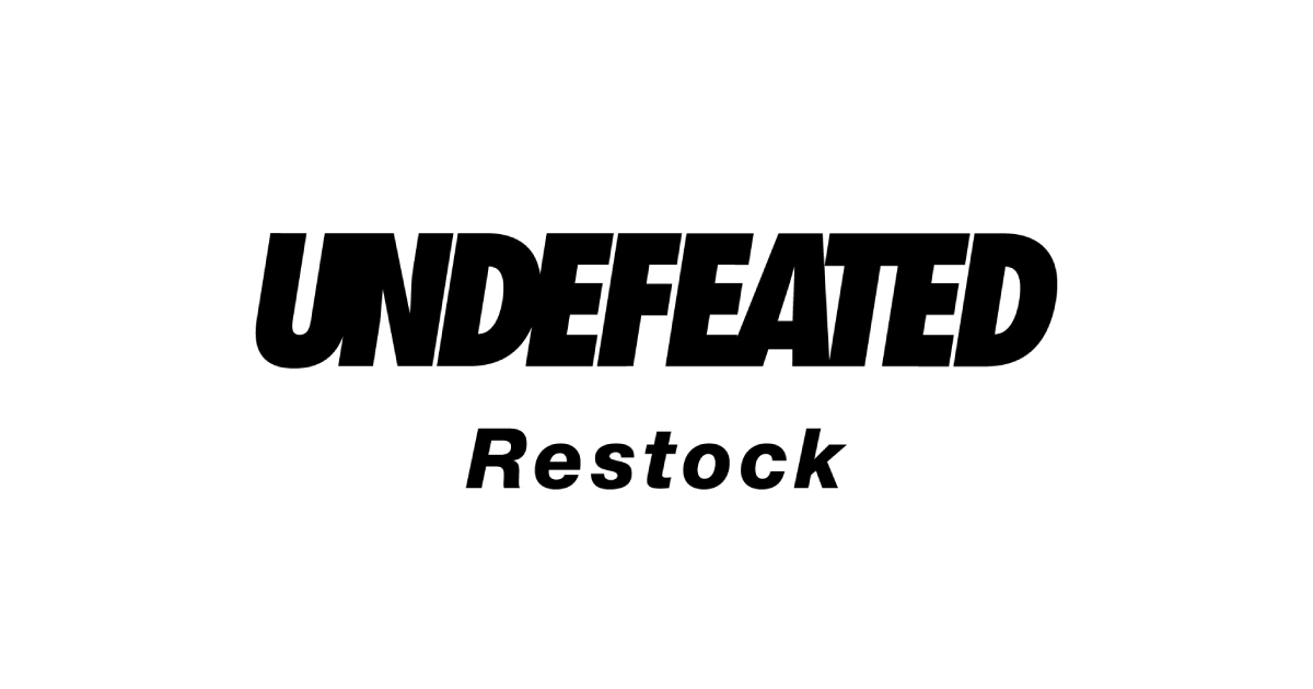 【4月8日発売開始】UNDEFEATED RESTOCK(アンディフィーテッド リストック)