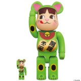 bearbrick-manekineko-pecochan-keiko-green