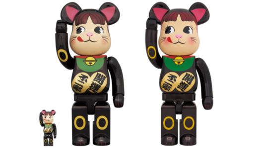 【12月19日発売開始】BE@RBRICK ベアブリック 招き猫 ペコちゃん 黒メッキ 100% & 400% / 1000%