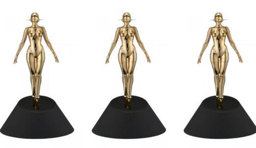 【11月20日抽選開始】空山基 Sexy Robot floating Gold ver. セクシー ロボット フローティング ゴールド バージョン