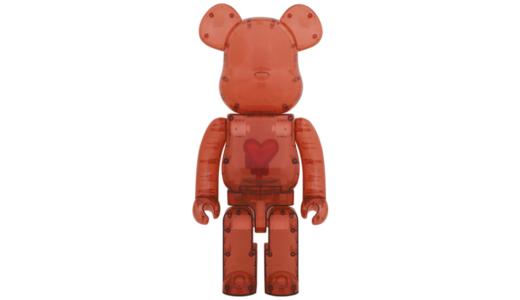 【12月12日発売開始】BE@RBRICK EMOTIONALLY UNAVAILABLE CLEAR RED HEART 1000% ベアブリック エモーショナリー アンアベイラブル クリア レッド ハート