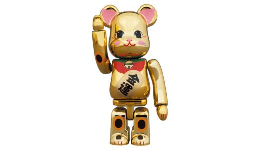【12月27日発売開始】BE@RBRICK ベアブリック 招き猫 金運 金メッキ 弐 100% & 400%