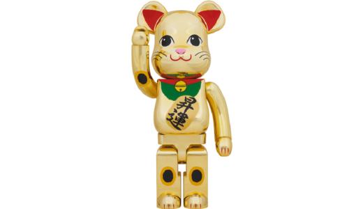 【1月31日発売開始】BE@RBRICK ベアブリック 招き猫 金メッキ 昇運 1000%