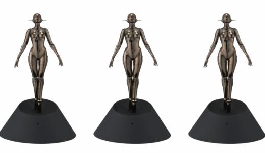 【1月23日抽選開始】空山基 Sexy Robot floating 1/4 scale edition black ver. セクシー ロボット フローティング