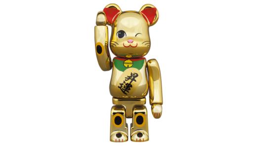 【2月20日発売開始】BE@RBRICK ベアブリック 招き猫 昇運 弐 金メッキ 100% / 400%