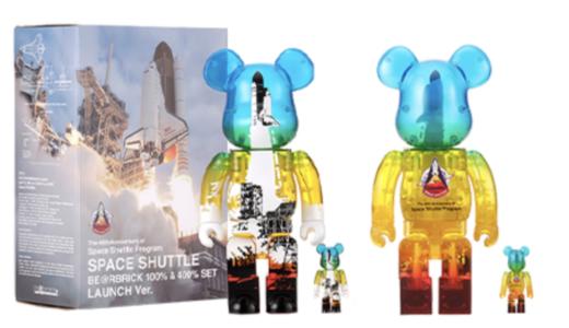 【4月1日抽選開始】SPACE SHUTTLE BE@RBRICK LAUNCH Ver. 100% & 400% スペースシャトル ベアブリック ローンチ バージョン