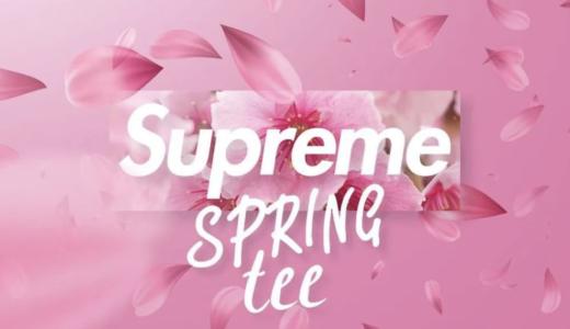 【4月17日発売開始】SUPREME 2021SS WEEK8 SPRING TEE シュプリーム 2021春夏 ウィークエイト スプリング ティー