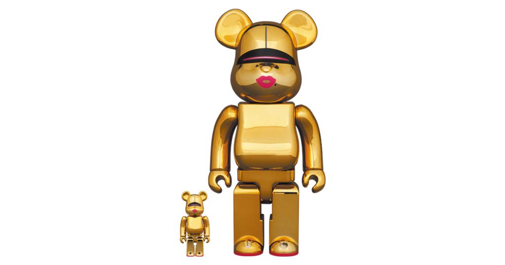 bearbrick-sorayama-x-2g-gold-ver-100-400