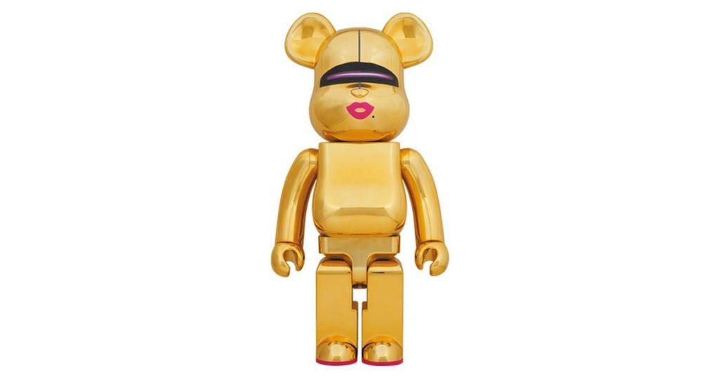 bearbrick-sorayama-x-2g-gold-ver-1000
