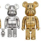 bearbrick-sorayama-x-bape-camo-shark-100-400-1000-gold-silver