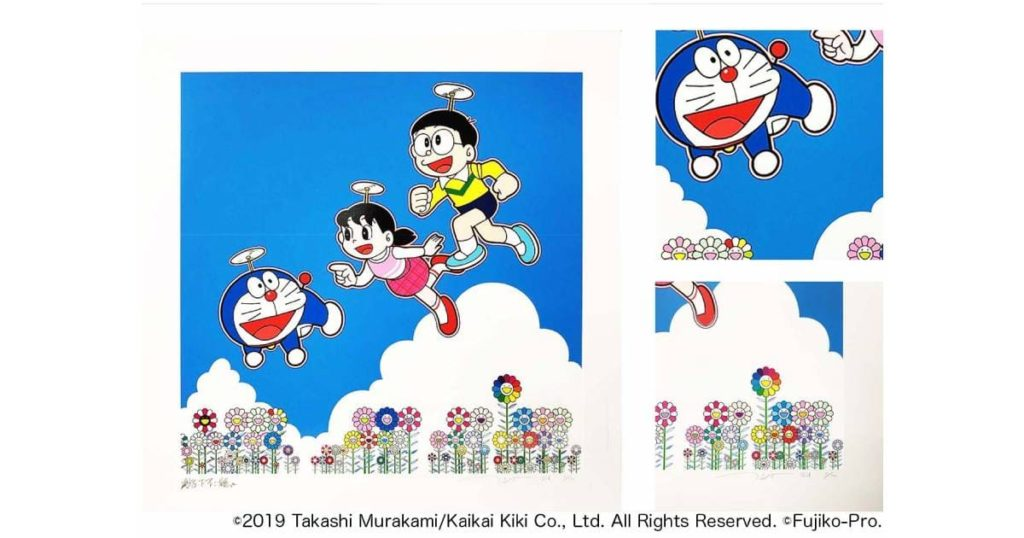 zingaro-murakamitakashi-doraemon-edition-sign-hanga