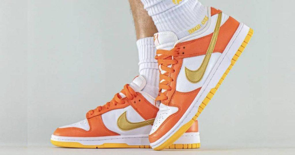 nike-dunk-low-orange-white-gold
